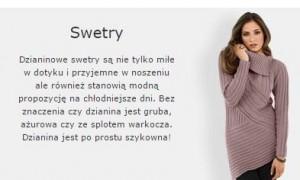 swetry bon prix