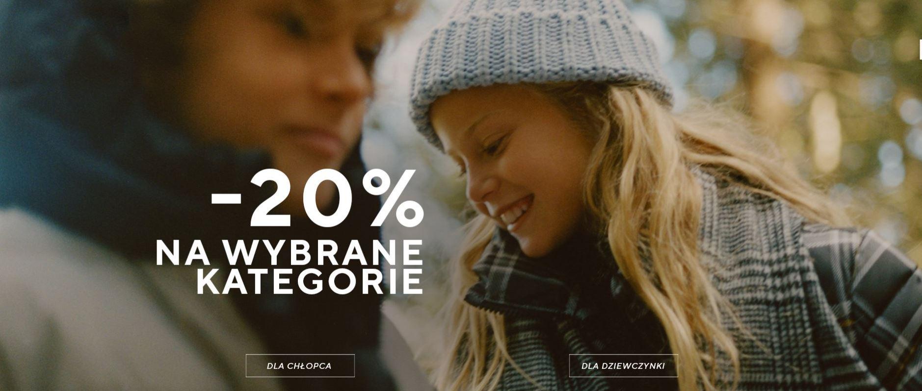 -20% na wybrane kategorie produktów dla dzieci w Reserved