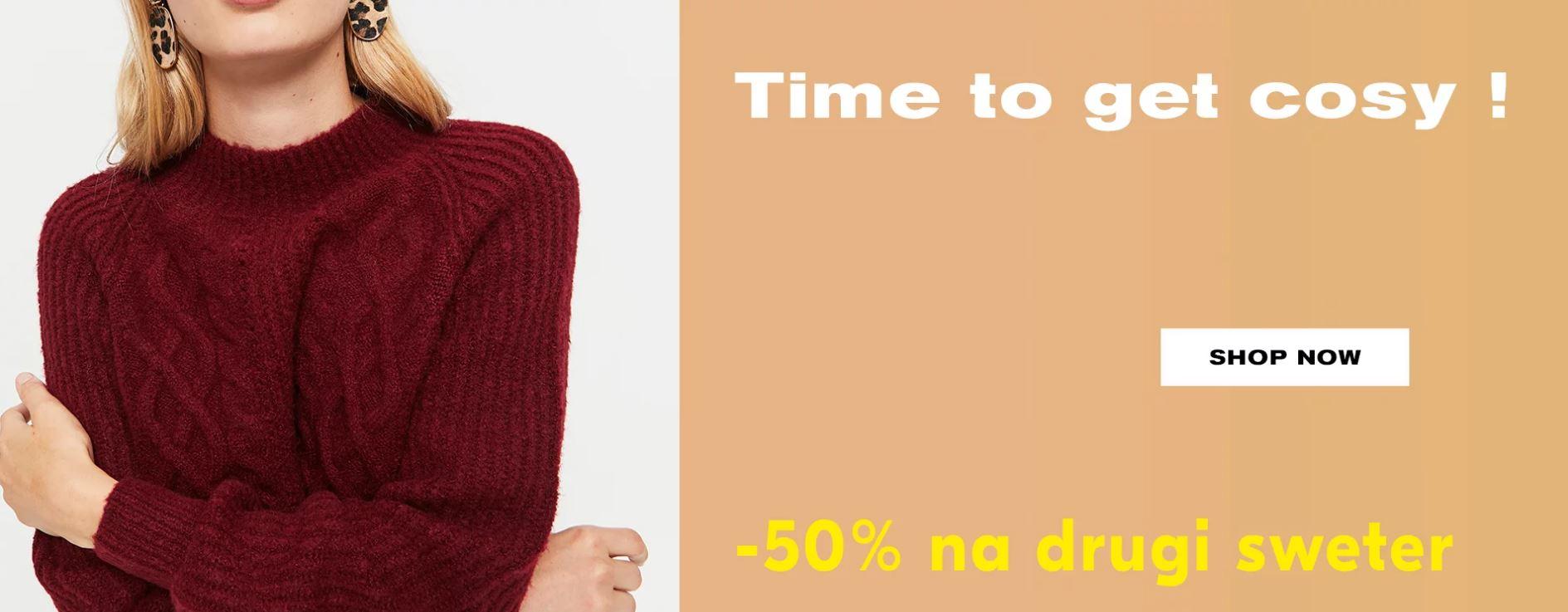 50% na drugi sweter w Tally Weijl